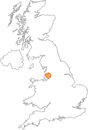 map showing location of Whittle-le-Woods, Lancashire