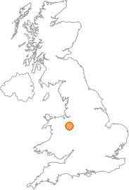 map showing location of Wilkesley, Cheshire