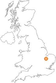 map showing location of Wimblington, Cambridgeshire