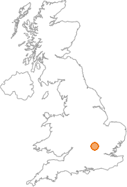map showing location of Wing, Buckinghamshire