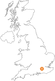 map showing location of Woking, Surrey