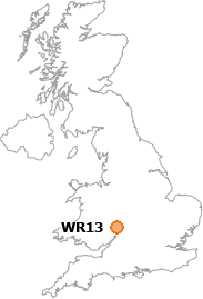 map showing location of WR13