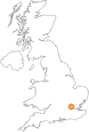 map showing location of Wrotham Park, Hertfordshire