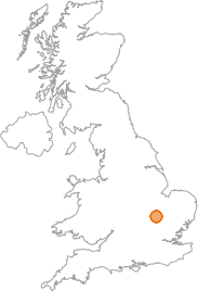 map showing location of Yelling, Cambridgeshire