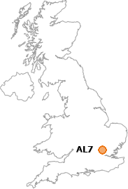 map showing location of AL7