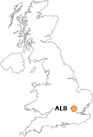 map showing location of AL8