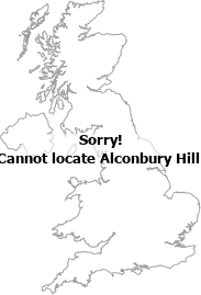 map showing location of Alconbury Hill, Cambridgeshire