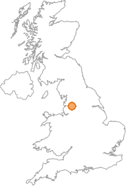 map showing location of Altham, Lancashire