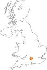 map showing location of Bagshot, Wiltshire
