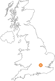 map showing location of Ballinger Common, Buckinghamshire