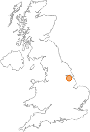 map showing location of Barnetby le Wold, North Lincolnshire