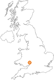 map showing location of Baysham, Hereford and Worcester