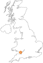 map showing location of Bonvilston, Vale of Glamorgan