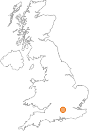 map showing location of Bradfield, Berkshire