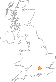 map showing location of Burghfield, Berkshire