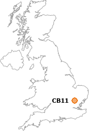 map showing location of CB11