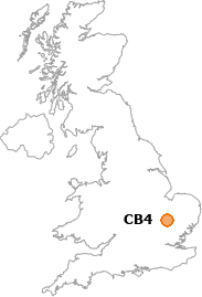 map showing location of CB4