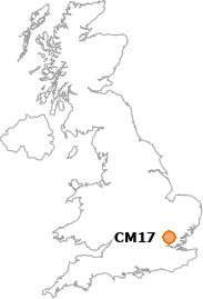 map showing location of CM17