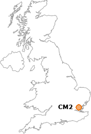 map showing location of CM2