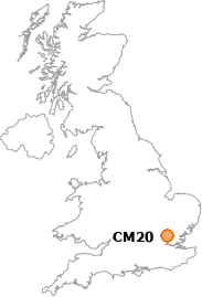map showing location of CM20