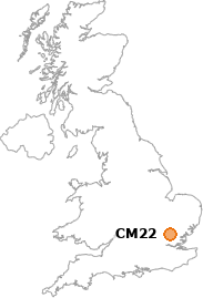 map showing location of CM22