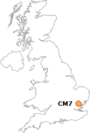 map showing location of CM7