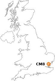 map showing location of CM8