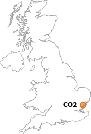 map showing location of CO2
