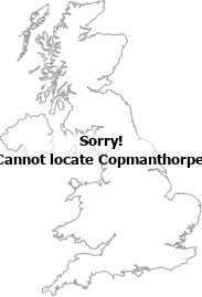map showing location of Copmanthorpe, York