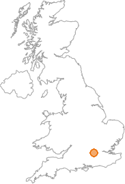 map showing location of Cranbourne, Berkshire