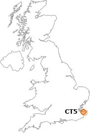 map showing location of CT5
