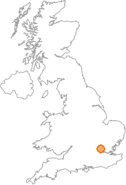 map showing location of Cuffley, Hertfordshire