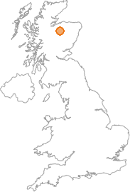 map showing location of Dava, Moray