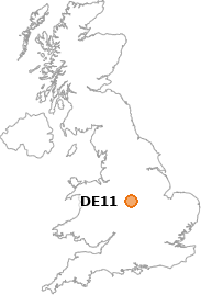 map showing location of DE11