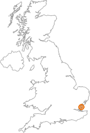map showing location of Dengie, Essex
