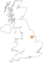 map showing location of Derrythorpe, North Lincolnshire