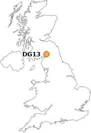 map showing location of DG13