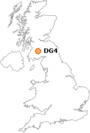 map showing location of DG4