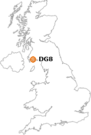 map showing location of DG8