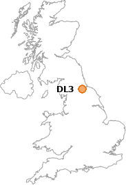 map showing location of DL3
