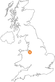 map showing location of Duddon, Cheshire