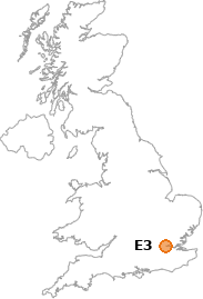 map showing location of E3
