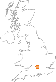 map showing location of East Hendred, Oxfordshire
