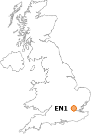 map showing location of EN1
