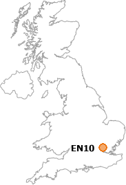 map showing location of EN10