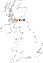 map showing location of G60