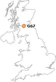 map showing location of G67