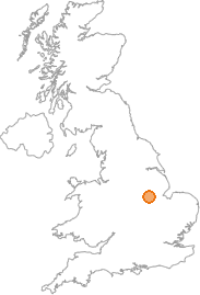 map showing location of Great Gonerby, Lincolnshire