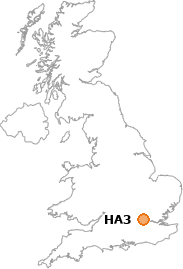 map showing location of HA3