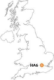 map showing location of HA6
